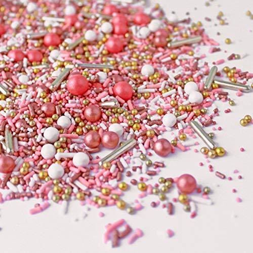 Vintage Rose Gold Sprinkle Mix | Wedding | Bridal Shower | Anniversary Sprinkles, 4oz (Best Cake Mix For Cake Pops)