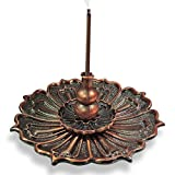 incense cones and holder - 3-in-1 Brass Lotus Stick Incense Burner and Cone Incense Holder Ash Catcher