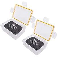 DMK Power 2 X LP-E12 Battery 875mAh 2 X Battery Box for Canon EOS M/100D/EOSM/EOS100D Etc Cameras