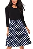Gift - Giotto Women?s Casual Flare Floral Contrast A-Line Evening Party Midi Dress
