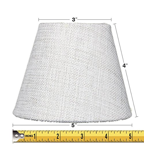 "Home Concept Inc 5"" Burlap Fabric Empire Lamp Shade"