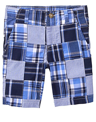 Gymboree Boys' Little' Easy Shorts, True Blue Plaid, ()