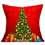 Weiliru Spring Decorations Decorative Pillow Covers Cotton Linen Pillowcases for Spring Home Decoration,18×18Inch