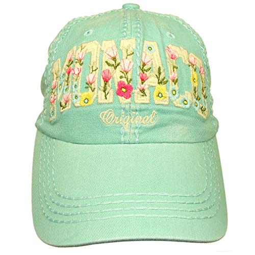 'Flowery Monaco' Robin Ruth Women's Cap - Green]()
