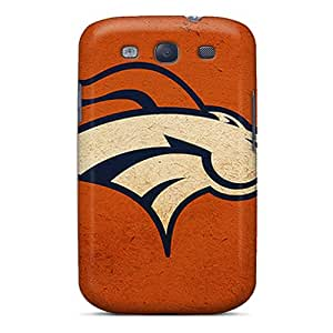 High Quality Mobile Cover For Samsung Galaxy S3 With Support Your Personal Customized Fashion Denver Broncos Pattern PhilHolmes