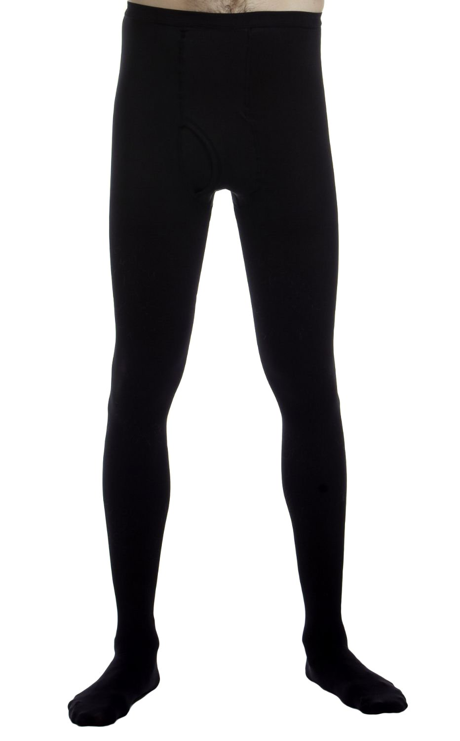 Compression Leotard Pantyhose for Men - Firm Graduated Support Full Length with Fly Opening 20-30mmHg Medical Compression, Closed Toe, Black Size XL Absolute Support - Made in The USA SKU: A234BL4