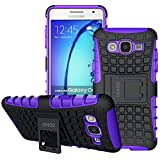 Galaxy On5 Case, OEAGO Samsung Galaxy On5 Case [Shockproof] [Impact Protection] Tough Rugged Dual Layer Protective Case with Kickstand for Samsung Galaxy On5 - Purple