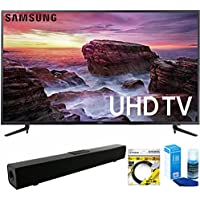 Samsung (UN58MU6100) 58-inch Smart MU6100 Series LED 4K UHD TV With Wi-Fi with Solo X3 Bluetooth Home Theater Sound Bar + 6ft HDMI Cable + Universal Screen Cleaner for LED TVs