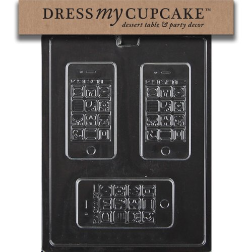 Dress My Cupcake Chocolate Candy Mold, Apple iPhone, Cell Phone, Smart Phone