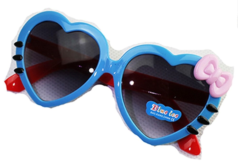 HLDIY Kid Sized Heart Shaped Anti-UV Sunglasses Child Bow Goggles