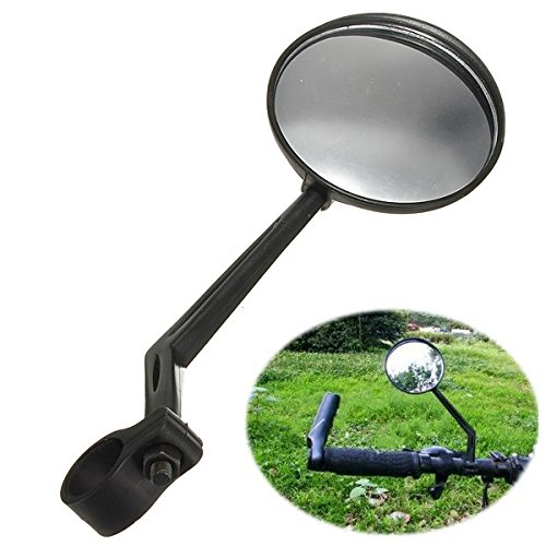 (Cycling - Bicycle View Mirror Bike Handlebar Convex - Mirrycle Miniature Universal Road Adjustable Mileage Lens Plated Led Rotatable Helmet Rotation Peddler Cosmos Stainless Mountain - 1PCs)