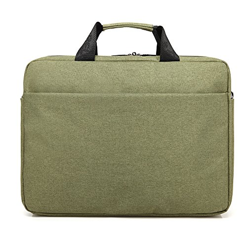 Bronze Times(TM) Bolso de Bandolera Funda de Ordenador Portátil Cuaderno A Prueba de Choques Premium 15 Pulgadas(Negro) Verde