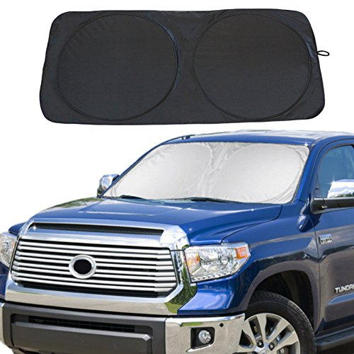 "Windshield Sun Shade Car Window Shade UV Reflector Keeps Vehicle Cool Folding Sun Visor Heat and Sun Reflector (Ultra-Large: 70"" X 35"")"