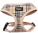 dog harness puppies - PUPTECK Soft Mesh Dog Harness Pet Puppy Comfort Padded Vest No Pull Harnesses , Cream Small