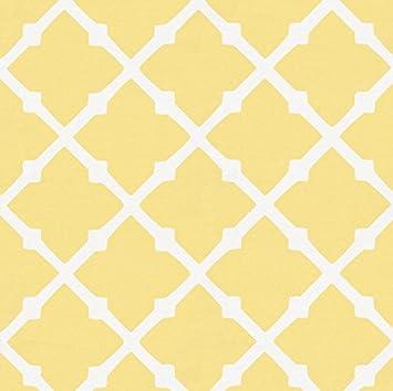 Amazoncom Carousel Designs Banana Yellow Lattice Fabric By The