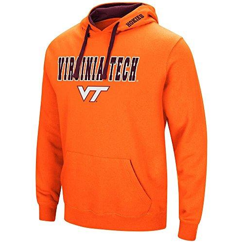Virginia Tech Mens Hooded Sweatshirt - Colosseum Mens Virginia Tech Hokies Pull-Over Hoodie - L