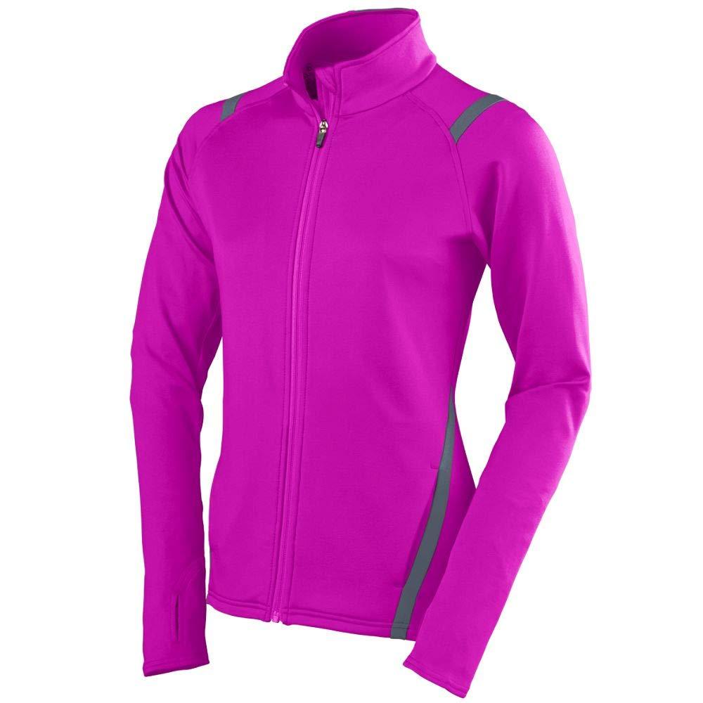 Augusta Sportswear Girls Freedom Jacket, Medium, Power Pink/Graphite by Augusta Sportswear