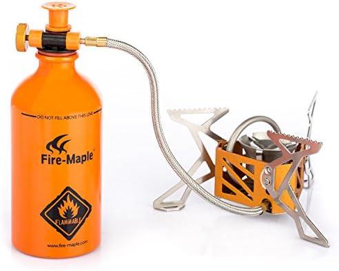 Fire-Maple FMS-F3 estufa de alcohol gasolina quemador de alcohol hornillo portátil plegable al aire libre camping acampada con soporte+ B500 botella ...