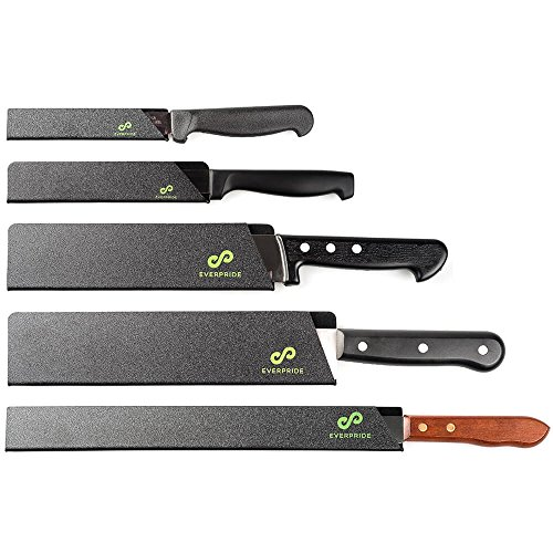 EVERPRIDE Chef Knife Guard Set (5-Piece Set) Universal Blade Edge Protectors for Chef, Serrated, Japanese, Paring Knives | Heavy-Duty Safety and Protection | Slip-On