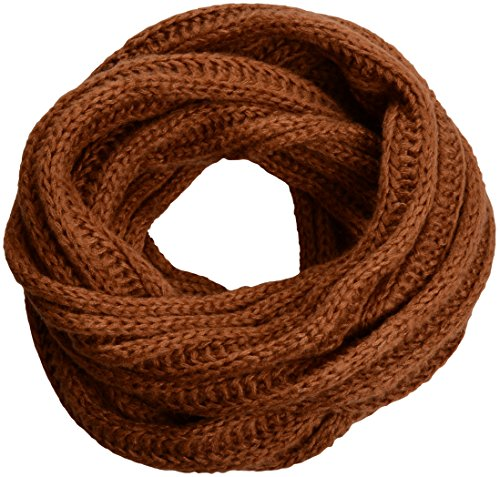 NEOSAN Women's Men Thick Winter Knitted Infinity Circle Loop Scarf ST Brown