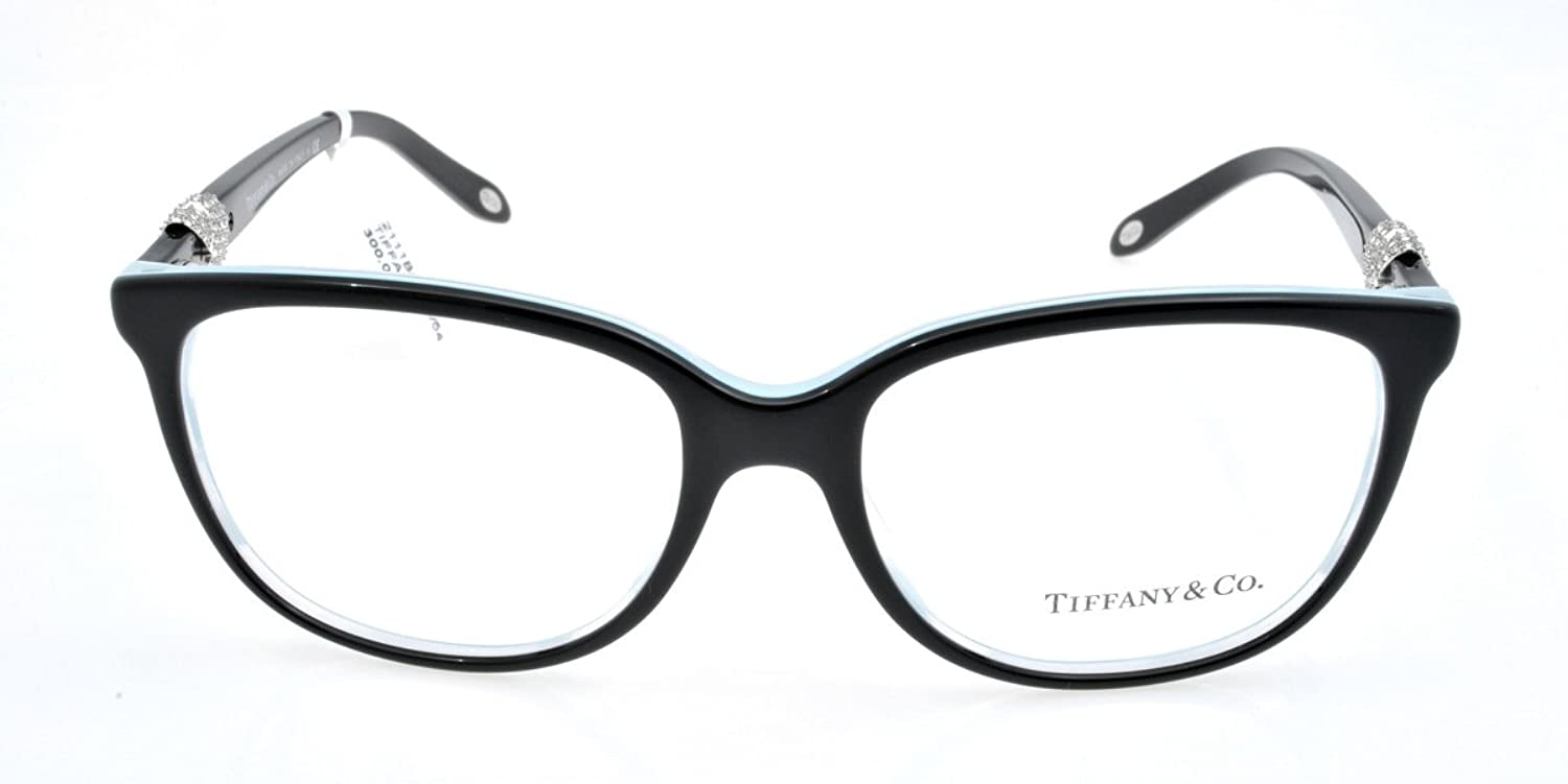 TIFFANY TF 2111B Eyeglasses 8193 Black/Striped Blue 52-16-140 ...