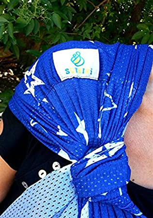 Lucky sukkiri Puerta beb/é Bleu a etoiles Azul