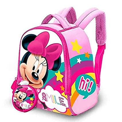 Minnie Mochila Neopreno + Monedero 22x18 cm: Amazon.es: Equipaje