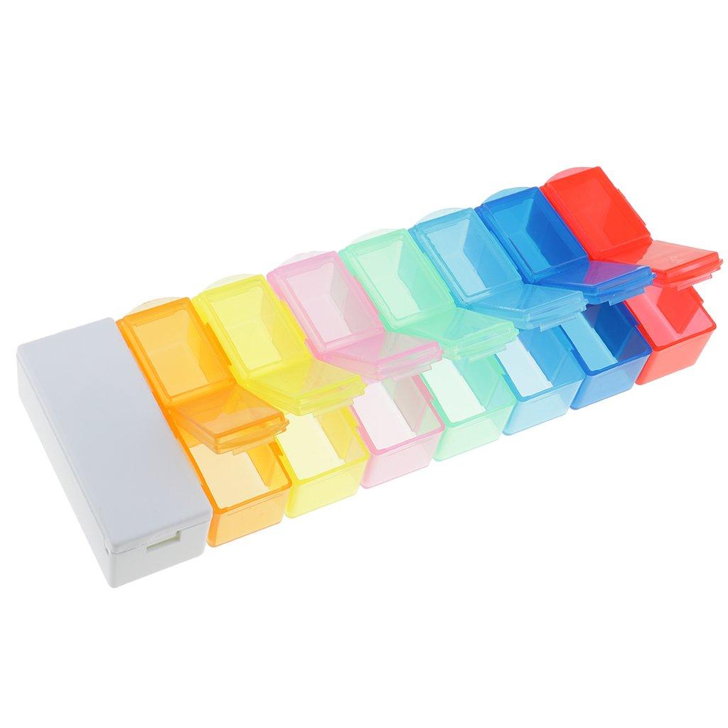 perfk Mit 14 Fächern 7 Tage Tablettenbox mit Medikamententeiler