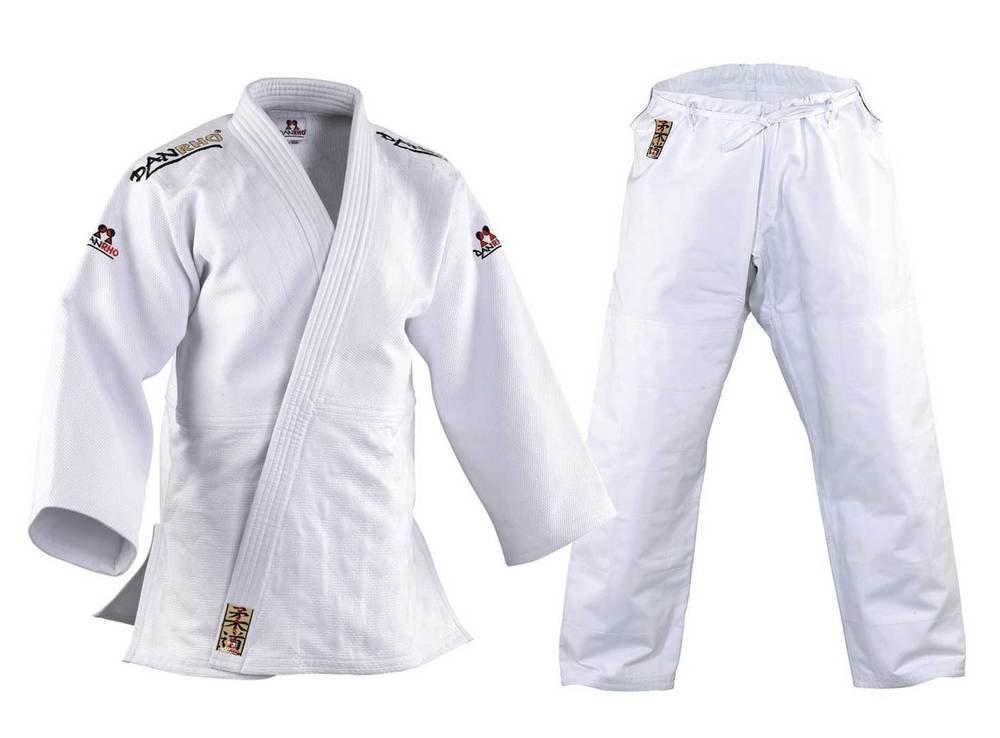 DanRho Traje de judo Kano Color Blanco Blanco