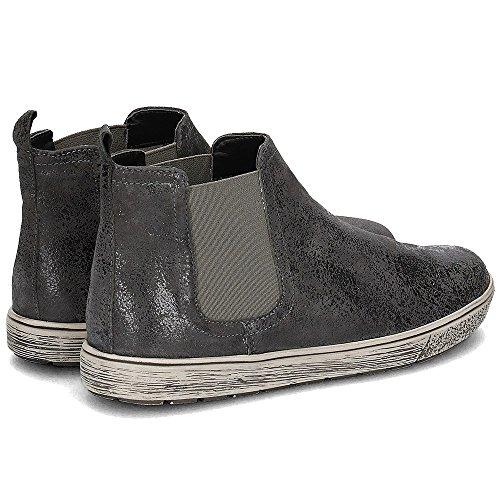Caprice Damen Chelsea Boots Leder Grey Suede Gr 38,5