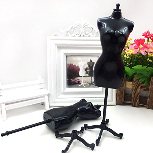 White 8.8inch Doll Dress Form Clothing Clothes Gown Display Mini Mannequin Model Stand D0C for Doll Display Holder Toy