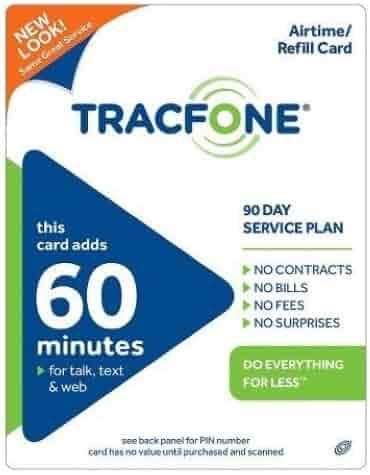 Tracfone 60 Minutes pin
