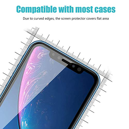pehael Privacy Screen Protector for iPhone 11 iPhone Xr, 9H Hardness Anty- Spy Tempered Glass, 3D Touch, Easy Install[6.1 inch](3 Pack) …