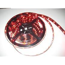 RED LED Strip   IP68 - 12v, WaterProof, Black PCB, 5M, 150LED