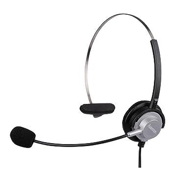 Hama 40625 - Auriculares de diadema abiertos (control remoto integrado), negro, plateado: Amazon.es: Electrónica