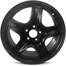 New 10-12 17x7.5 Ford Fusion 10-11 Mercury Milan 5 Spoke Black Replacement Steel Wheel Rim