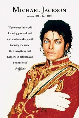 Poster Michael Jackson Zitat Und Daten Größe 61 X 91 5