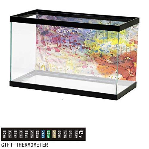 (bybyhome Fish Tank Backdrop Abstract,Watercolor Spots Liquid,Aquarium Background,36