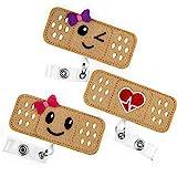 Nurse Badge Reel Holder - 3 Pack - RN Badge - Bandage Badge Reel - Perfect Nurse Gifts for Women - by BadgeZoo