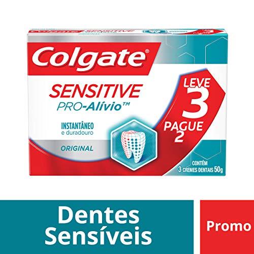 Creme Dental Colgate Sensitive Pro-Alívio Original 50g Promo Leve 3 Pague 2