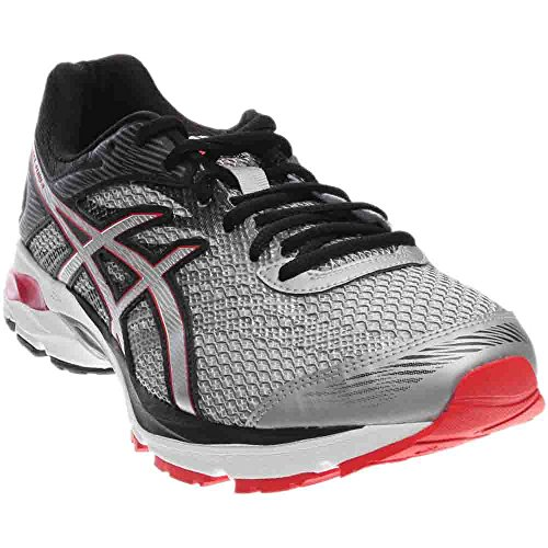 ASICS Mens GEL-Flux 4 Road Running Shoe,Glacier Grey/Silver/Vermilion,US 8 4E