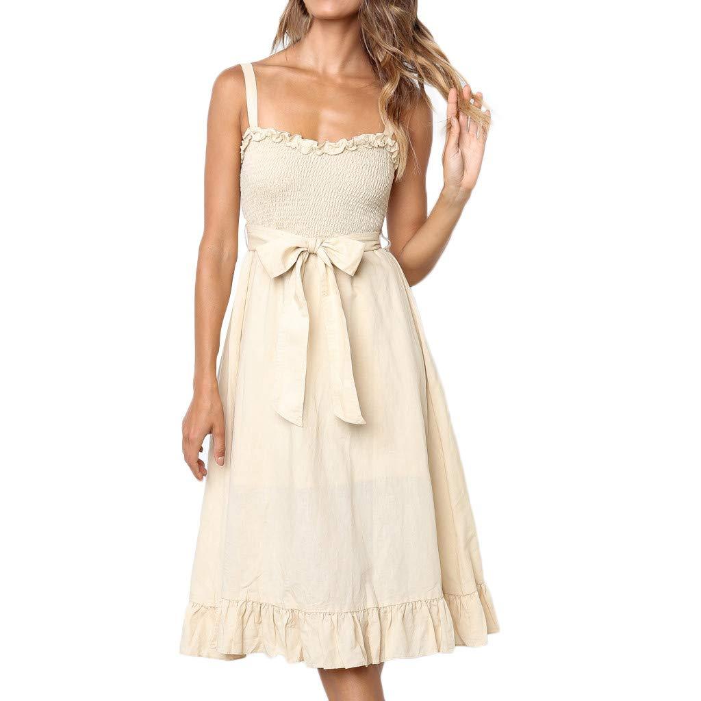Oliviavan Women's Sequined Dress 1920s Inspired Sequins Beads Long Tassel Inserts Dress Beige by Oliviavan