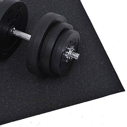 homcom Bodenschutz/Unterleg-matte für Fitnessgeräte Multifunktionsmatte, Schwarz, B1-0192