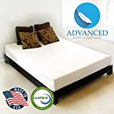 Advanced Sleep Solutions Pearl Gel Memory Foam Mattress - Triple Layer - 3.3 Pound Density - CertiPUR-US Certified - 20- Year Warranty - Proudly made in the USA, 10 Inch Queen Size