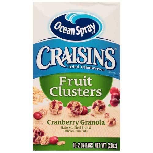 - Ocean Spray Craisins Cranberry Granola Fruit Cluster, 2 Ounce -- 40 per case.