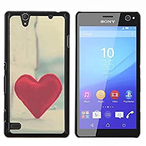 Jordan Colourful Shop - Love Hipster Heart For Sony Xperia C4 Personalizado negro cubierta de la caja de pl????stico