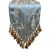 The Classic Spa Blue Sherry Kline Elizabeth 13-inch X 72 Table Runner