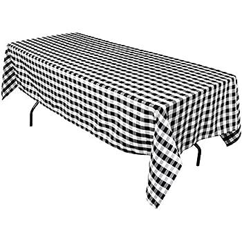 Rectangular Tablecloth Black U0026 White Checker