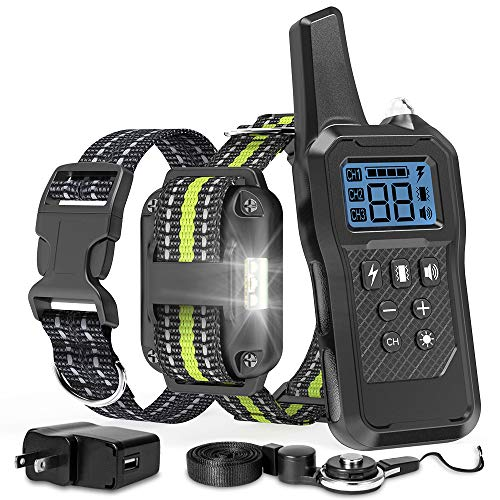 FunniPets Dog Training Collar, Dog Shock Collar 2600ft Remote Range Waterproof Shock Collar for Medium and Large Dogs…