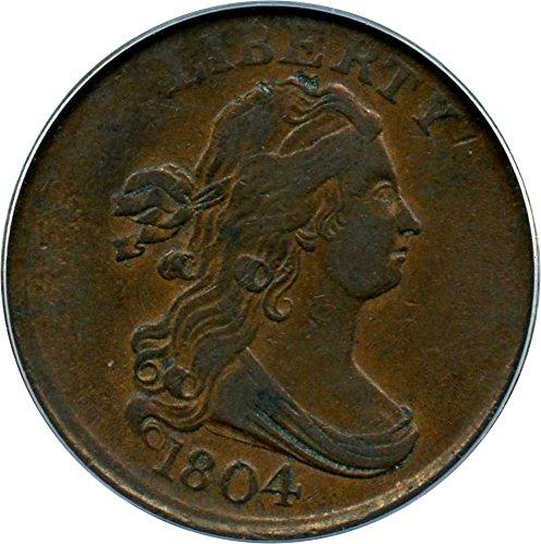 1804 P Half Cents Crosslet 4 Stems Half Cent VF35 PCGS BN